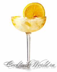 Добавление ликера Galliano придает коктейлю легкий аромат аниса. долька...